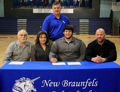 Jordan Martinez received a scholarship to play football at Texas A&M University – Kingsville (TAMUK) located in Kingsville, Texas.