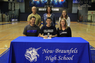 Tyler Buck received an academic scholarship valued at $48,000 and will be swimming for the Colorado School of Mines. A Division II school in the Rocky Mountain Athletic Conference, Colorado School of Mines is located in Golden, Colorado. His athletic honors include being named Academic All-American; Academic All-State; USA Speedo Sectional Swimmer (2013-2015); Regional Finalist (freshman-senior year); Regional Medalist; District 25-5A Male Athlete of the Year; District High Point Champion; TISCA Finalist (freshman-senior year); Team Captain; Most Valuable Player (freshman-senior year) and a school record holder. He is the son of Keith and Anne Buck.