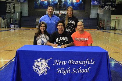 Kyle Waldrip signed a letter of intent to play golf for McLennan Community College. McLennan is a Jr. College in the NJCAA Region 5 Conference located in Waco, Texas.  His athletic honors include being the 2015 District 25-6A Individual Champion, a member of the 2011-2015 District Team Champion team and was named 1st Team All-District 2013-2015. He is the son of Jim and Kristina Waldrip.