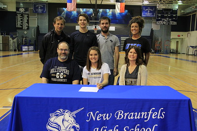 Keomi Hamlin received an athletic and academic scholarship to St. Edwards University and will be running cross-country and track. St. Edward's is a Division II school in the Heartland Conference located in Austin, Texas. Her athletic honors include: lettering in cross country all 4 years; four-time team District Champions; two-time team Regional Champions; four-time State Team State Qualifier; San Antonio Express News All-Comal Team; All-Region Nike South Team Regional Champions and Nike National Team Qualifier. She is the daughter of Michael and Michelle Hamlin.
