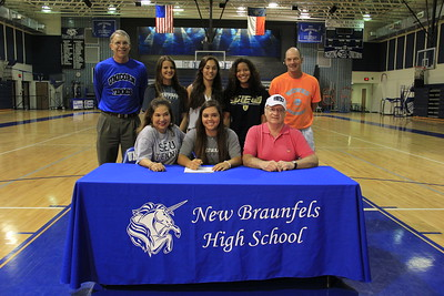 Elisa Guillen signed a letter of intent to play tennis at St. Edwards University. St. Edward's is a Division II school in the Heartland Conference located in Austin, Texas. Her athletic honors include being on the 2013 State Championship Tennis team and on the 2014 State Runner-Up Tennis team. She is the daughter of Gina Agurcia.