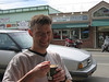 Espresso #3 - Main Street in Duvall.  JC is all about efficiency...rather than having to deal with both an espresso AND a soft serve cone, he has them deposit his soft serve directly into his espresso.