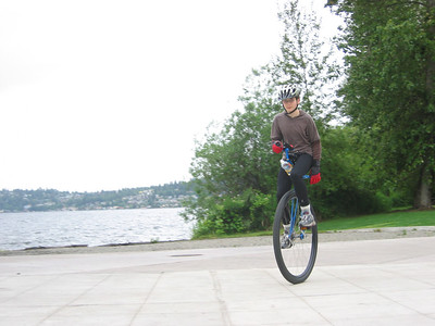 2007:  Miles tearing it up at Logboom Park, with Lake Washington in the background.