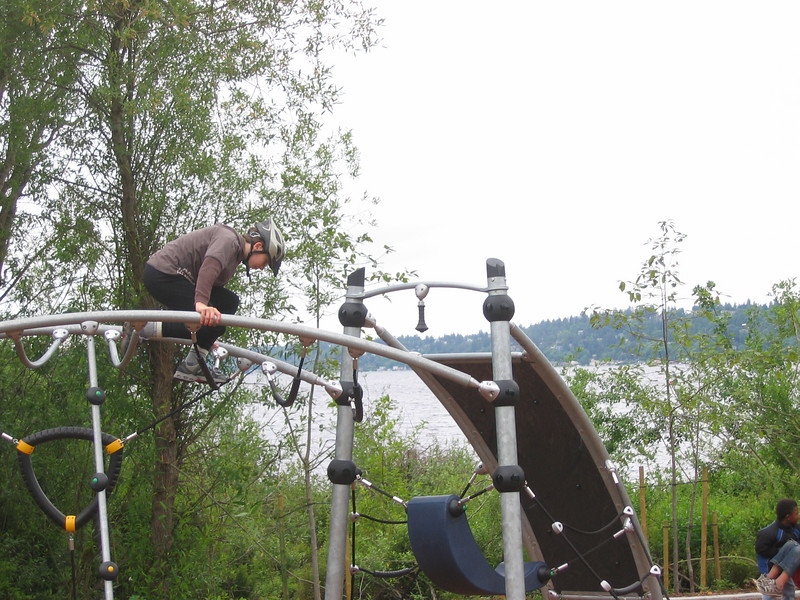 2007:  Log Boom Park has a really cool new play structure.