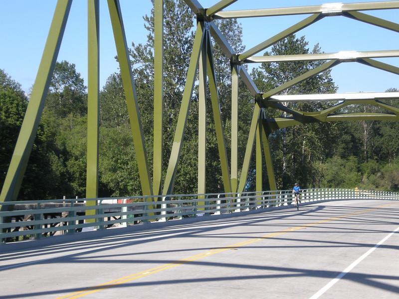 2008:  Miles on the return crossing of the new bridge.