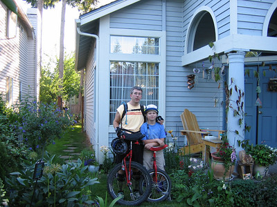 "2004:  First photo doc of annual ride. Did some muni around Yellow Lake, with Miles on his Pashley 20"" and me on my Hunter 24."