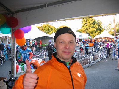 My boss, who signed up to ride this year after a couple years of my cajoling, then promptly started running neck and neck with me on fundraising.