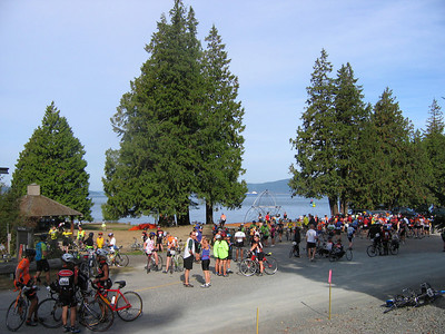Rest Stop 2, Day 1. Still at sea level, but about to start climbing up to Deception Pass Bridge.