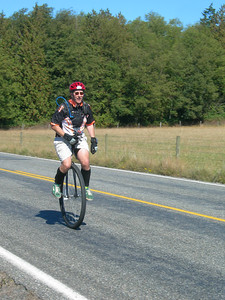 Day 2, photo by some co-workers who were on a tandem...the only bikers to pass me on a climb over the whole weekend.