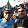 "My former boss Todd, who I recruited to this ride two years ago, and former co-worker Mark. Todd tricked Mark, saying ""Hey, let's go for a bike ride on Saturday.""  Then on Friday night, he spilled the beans as to just what kind of a bike ride it was.  Mark stepped up in a big way, and I'm hoping this is the first of many years that he'll be doing the event."