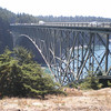 Deception Pass, from the island in the middle of the bridge.