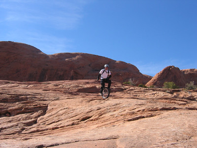 Steve DeKK on the Moab Rim Trail.
