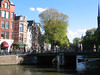 View across the Amstel River just before its terminus in the heart of the city.
