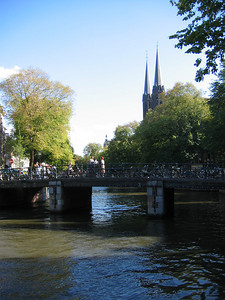 Looking up the Amstel.