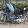 This guy was seriously asleep. The Vietnamese demonstrate Advanced Scooter Skills on a daily basis. Photo: G. Huntley