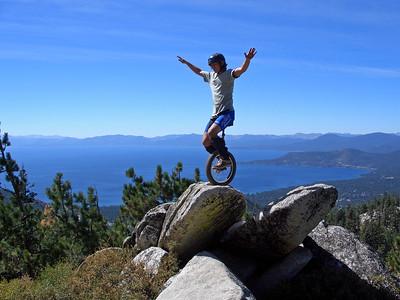 John Sprague, high above Lake Tahoe along the Tahoe Rim Trail