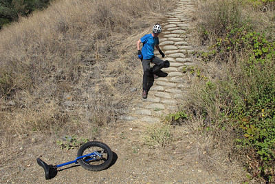 Then Kris switched to a second set of cement sandbags that was even steeper...