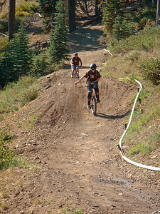 The LiveWire trail is paralleled by a sprinkler system, to keep the dust and erosion down.