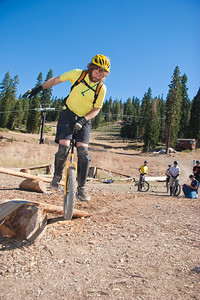 Nathan Hoover on the Trials course