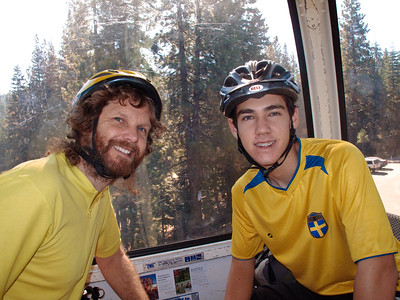 Nathan and Beau, ready to go, at Northstar