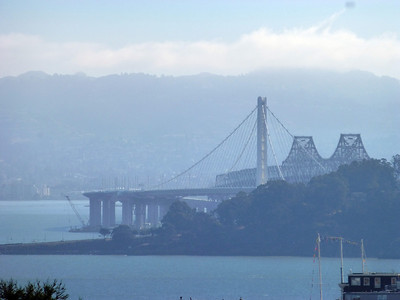 View of the new Bay Bridge, just opened