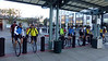 8:24am, departure from the Caltrain Station