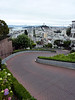 Lombard Street just before it was assaulted by a bunch of cyclists. It's rare to see it without cars and it was very pleasant (and fast) to ride that way.