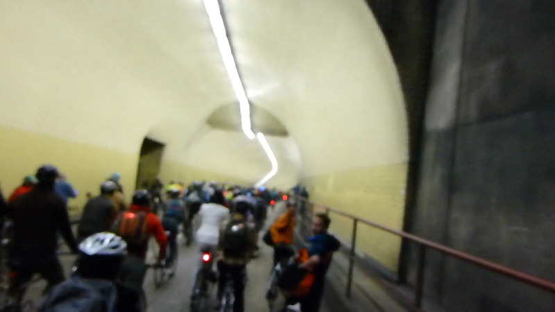 Riding through a couple of Tunnels