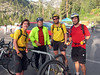 Beau, Bronson, Nathan and Mike at Emerald Bay. Bronson went on to complete the 100 mile ride on bike in about 6 hours.