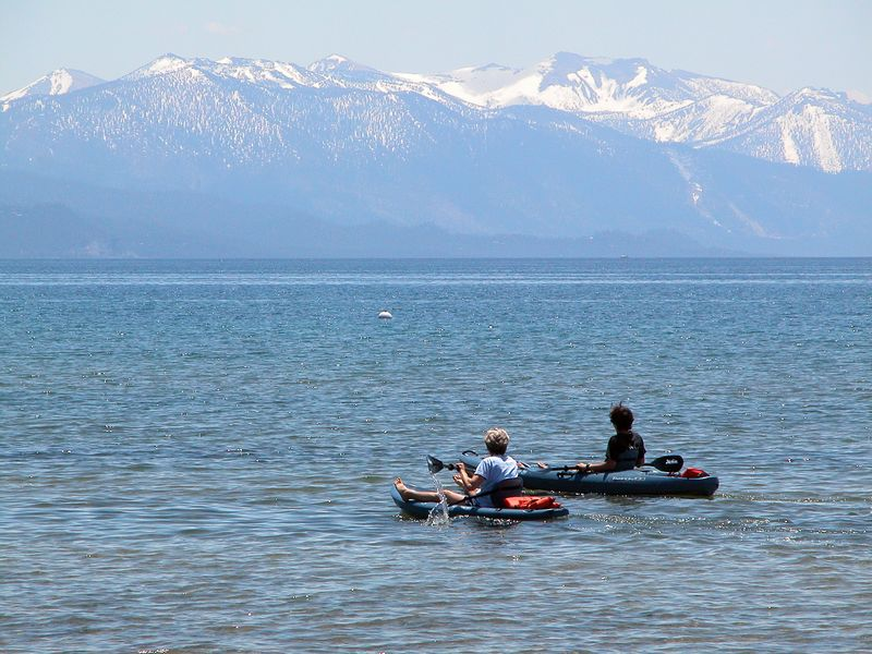 Beau and Diana, kayaking on gorgeous Lake Tahoe the day before the ride