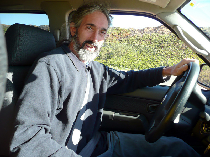 Geoff, guru of support, did the driving.