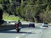 9:30am, we sighted a geared 36 cruising route 17, on Chuck's motorcycle.