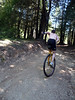 On the steepest part - he's borrowing Beau's Hunter 36 with 152mm cranks.