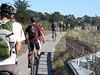 A bunch of us riding the bike path back to Santa Cruz [Tom Holub photo]