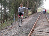 Scot along the tracks