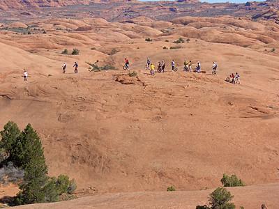 Riders on the Practice Loop.