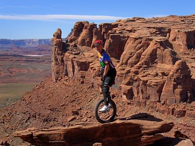 Hopping on the edge.