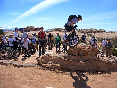 Ben Plotkin-Swing showing off on a rock.