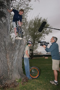 Garrett Powell from Riverton, WY preparing to risk the life and limb of the guy under him for TV!