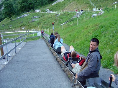 [KL] August 10: Starting our rest day with a couple of laps down the Rodelbahn (Alpine Slide, aka Luge).