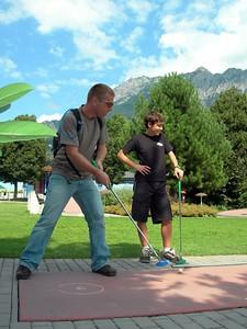 August 4: Playing mini-golf on our day off in Vaduz, Liechtenstein.