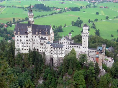 Neuschwanstein Castle from above on our hike before the tour started.