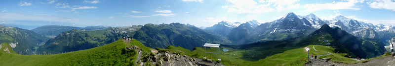 View from the summit of Männlichen, above Grindelwald<br /> Panorama from 6 shots