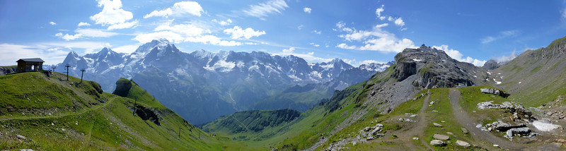 Panorama from Schilthornhutte from 4 photos