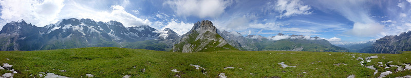 360° panorama from the Tanzbödeli, elevation 2130m from 10 images - over 80 megapixels!