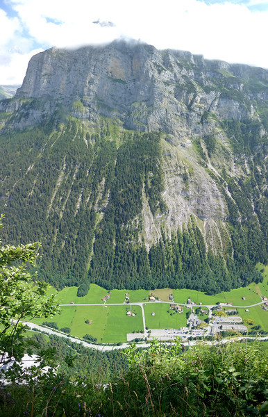 """Vertical panorama from 3 shots taken from the <a href=""""http://www.klettersteig-muerren.ch/cms/front_content.php?idcat=2"""">Mürren to Gimmelwald Via Ferrata</a>"""
