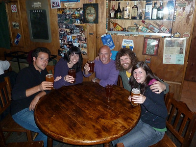 Enjoying our last night in Ushuaia, drinking draft Beagle Ale at one of the Irish pubs 2011-01-14 23:57:15 by Nathan Hoover