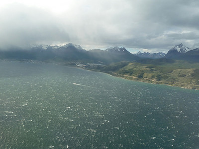 Coming in over the Beagle Channel in rough weather, Ushuaia ahead 2011-01-13 14:05:55 by Nathan Hoover