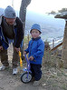 Day 1: the only other unicyclist we met in Bhutan, age 4 (no, he couldn't ride it)