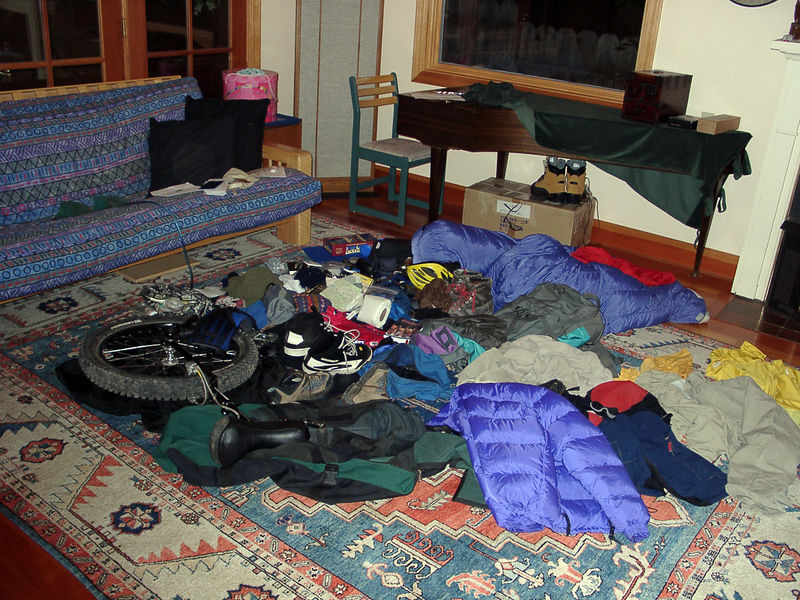 March 31, 2002: Here's what I took for 5 weeks of unicycling, filming and trekking around the remote country of Bhutan